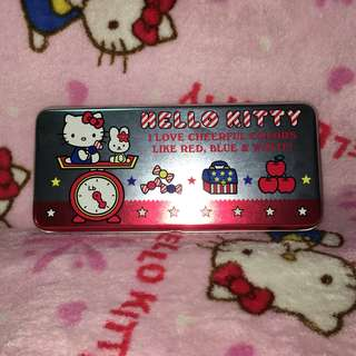 (Slight dents) Hello Kitty 2 Tier Metal Pencil Box Case