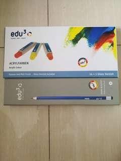 Brand New Edu Acrylic Colour & Pencil with eraser