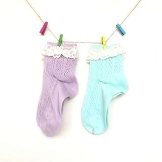 蕾絲針織襪