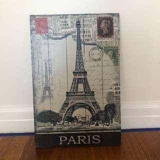 Paris Eiffel Tower Wall Art Decor 60cm x 39cm