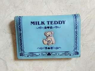 Milk teddy dompet biru