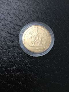 Mexico 1986 World Cup soccer gold coin