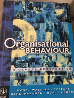 Organisational Behaviour - A global perspective