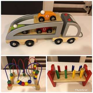 Set of Wooden toys