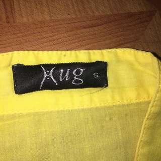 Hug Yellow Tunic Top