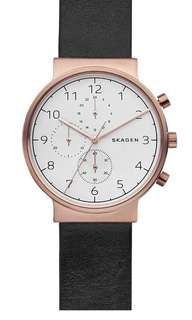 BRAND NEW SKAGEN MEN's Leather Watch, 40mm