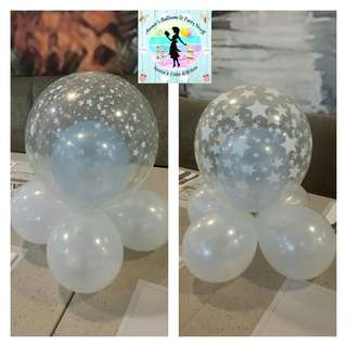 Bubble Balloon Clusters for Party Table Centerpieces or Cake Table Decors (set of 10)