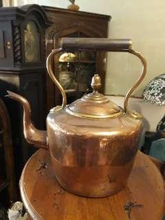 🚚 英國古董手工銅壺3.5L