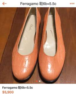 🚚 Ferragamo shoes 6B =22.5 made in Italy