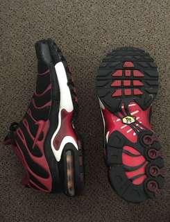 Red And Black Nike TN Air Max Plus