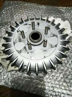 BWS後鯊魚煞車鼓,鯊魚框,鍛造,後輪,銀色。