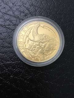 South Africa 1996 Elephant Gold coin