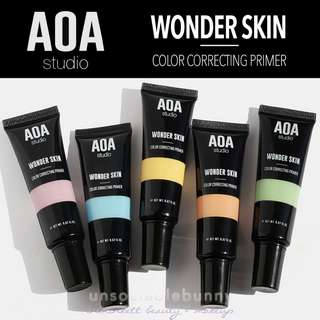 Colour Correcting Primers Wonder Skin Vegan US  Cruelty-free Cosmetic Makeup AOA Studio