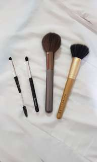 Assorted Makeup Brushes - Marionnaud and Maybelline