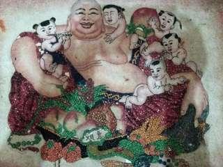 Lukisan GEMSTONE BATU MULIA ,JADE,RUBYDewa JULAIHUT Kemakmuran Hokku