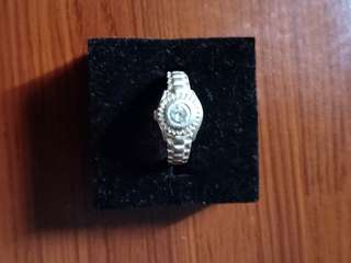 Authentic Sterling Silver Ring w/ stone