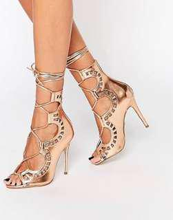 Rose Gold Windsor Smith Gillie Heels Size 6
