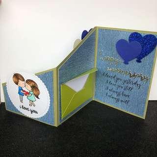 Anniversary z fold card