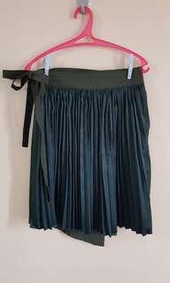 Pleated Wrap Around Skirt
