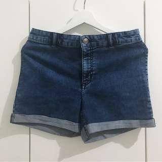 Highwaist Denim Short Pants by H&M