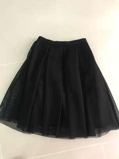 Forever 21 Mesh Long Skirt