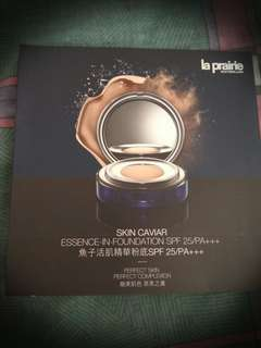 La Prairie skin cavar essence in foundation sample