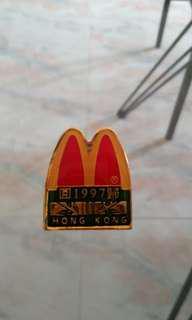 Vintage Macdonald Collar Pin Hong Kong 1997