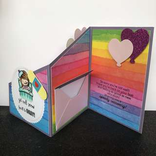 Get well soon z fold card
