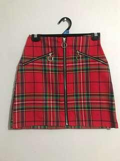 Red tartan/ plaid skirt BNWT