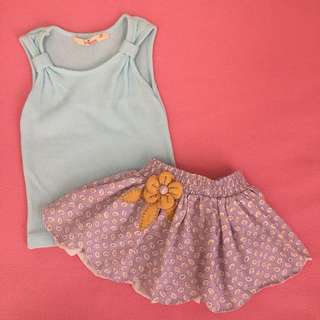 EUC-LN Justees Top and Lilly Skirt