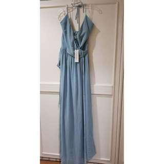 BNWT Ceremony by Joanna August Halter Wrap Dress (US LARGE)