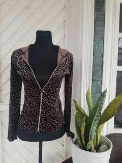 Velvet Leopard Zip Hoodie