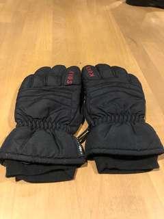 Size XS/6 Ladies Black Ski Snow Gloves
