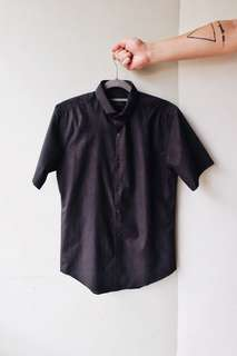 Topman Premium Short Sleeve Shirt - Slim Fit