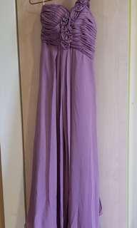 紫色姊妹裙 長裙 晚裝裙