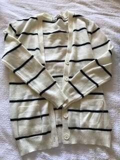 Forever 21 stripe cardigan size M