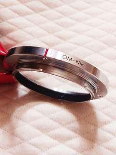 OM to Nikon mount (in high Qty metal)
