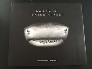 Hard cover coffee table book on Loving Sharks