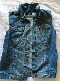 Dotti denim vest jacket size 10