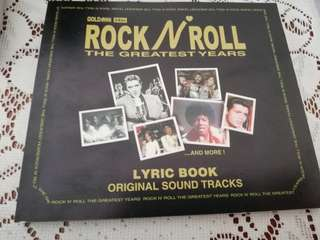 Rock n Roll the greatest years 5discs with lyrics book