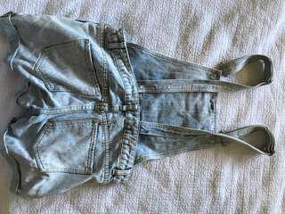 Dotti light blue cute denim overalls