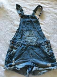 Dotti cute denim overalls size 10