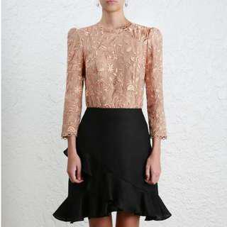 Zimmerman Lace Top - Nude