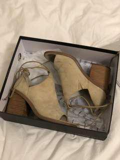 Camel/Nude Windsor Smith Wrap Around Heels