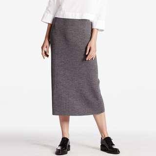 Uniqlo grey Midi Skirt UK 10 M