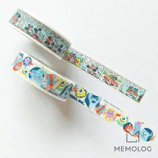 DAISO Mickey Comic Strips and Monster, INC. Washi Tape