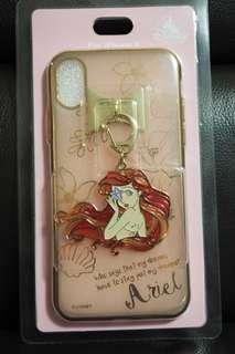日本 Disney Store 直送 小魚仙 Ariel iPhone X Case 連吊飾