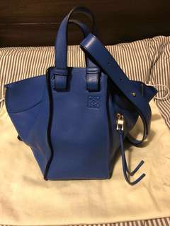 Loewe hammock bag small size electric blue