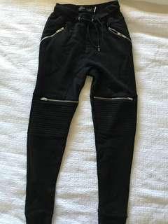 Zara men's zip up black winter pants