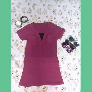 •pink dress